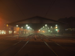 (xelladrillox) Tags: olympus omd em1 zuiko 918mm fourthirds adapter mmf2 wideangle night shots handheld february winter fog foggy train station ettlingen germany