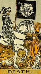 Death (~ Lone Wadi ~) Tags: tarot tarotcards death blackmagic fortunetelling sorcery occult retro 1910s