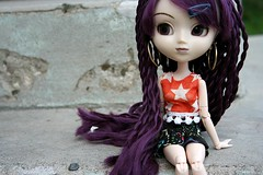 Girl, Look at That Body~ (I~Háve~A~Heádcold) Tags: nomado tuesday purple wig early doll dollie obitsu rebodied funville sparkle girls outfit cutsom hippie pullip