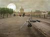 Paris series .. the case of the missing person (Nick Kenrick..) Tags: lenabemanna pontdesarts paris france bridge umbrella shoes mystery
