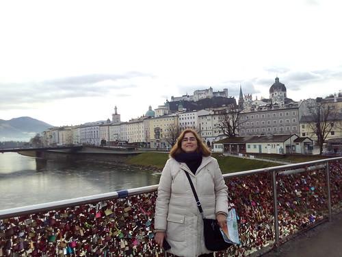 Ponte dos cadeados em Salzburgo
