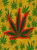 Marijuana Leaf Seamless Background (damianmartinez3) Tags: green leaves leaf gold golden yellow marijuana cannabis weed grass pot medical drug narcotic dope nature herb fabric cloth textile linen weave material pattern texture flat topview top abstract seamless tile wallpaper repeat print repetition background backdrop