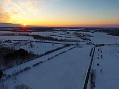 Straight and Narrow (Matt Champlin) Tags: dronephotography drone drones aerial life nature landscape sunset beautiful peaceful fun friday tgif dji djiphantom4 road rural farm farming winter cold 2017