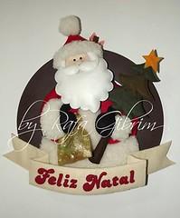 Guirlanda de natal Papai Noel (Feito a mão [by Rafa]) Tags: feltro fieltro felt rafagibrim fofo cute enfeite presente lembrança artesanato natal papainoel guirlanda guirlandanatalina