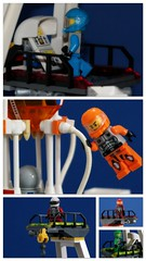 LEGO space ramp launch . (peter-ray) Tags: lego space ramp launch ship missile rocket razzo interstellar peter ray minifigure mini figure star starship trek mars mission police moc afol diorama