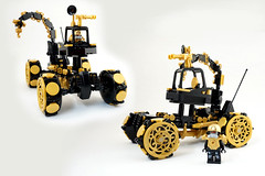 Febrovery 2017 Day 2 (TFDesigns!) Tags: lego space classic rover febrovery alien vehicle gold