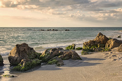 Gulf Coast Rocky Shoreline (SteveFrazierPhotography.com) Tags: caspersenbeach venice sarasotacounty florida fl sunset evening beautiful clouds seashells gulfcoast sand rocks rocky rockformations shore shoreline people shelling hunting sharksteeth fishing stevefrazierphotography canoneos60d shellingbeach park gulfofmexico winter december 2016 wading landscape seascape waterscape