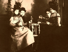 Ladies Of the Night (~ Lone Wadi ~) Tags: prostitutes prostitution bordello brothel indoors retro unknown
