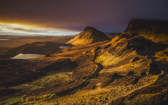 Trotternish Drama (Vemsteroo) Tags: morning travel skye nature beautiful sunrise canon landscape dawn scotland highlands isleofskye scenic dramatic hills vista 5d epic portree peninsular mkiii trotternish quiraing circularpolariser beautyinnature leefilters