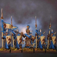 High elf seaguards (Janet Redding) Tags: warhammer gamesworkshop miniaturepainting highelves warhammerfantasy highelf islandofblood highelfseaguards