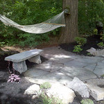 """Stone patio, stone, stone bench, rock bench <a style=""""margin-left:10px; font-size:0.8em;"""" href=""""http://www.flickr.com/photos/117326093@N05/18330978566/"""" target=""""_blank"""">@flickr</a>"""