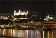 my hometown (i.v.a.n.k.a) Tags: castle night river lights long exposure slovakia bratislava danube
