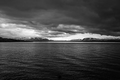 Iceland in Black and White (scuthography) Tags: blackandwhite white snow black mountains water landscape iceland ngc dramatic scenario drama flickrglobal kathrinschild