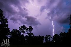 Lightning Strike (AllisonBadely) Tags: sunset sky storm weather clouds louisiana strike thunderstorm lightning cloudporn covington skyporn