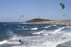 Kite surfing (Steven Vacher) Tags: tenerife spain holiday sea outdoor outdoors kitesurfing kite surfing beach stevenvacher vacher