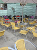 Chairs and tables (mittalbum) Tags: summer oslo restaurant chairs parasol tables tableclothes outdoorrestaurant stortingsplass canonpowershots90