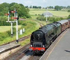 201507 Duchess Sutherland arrive Swanwick (Gedblofeld) Tags: sutherland duchess duchessofsutherland 46233