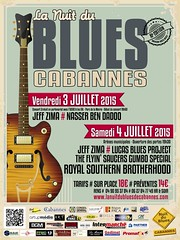 """ Flyer "" La Nuit du Blues Cabannes 2015"