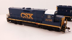CSX - MATE (Road Slug) #2230 Dark Future Paint Scheme - Former GP35 (Engineer Front 3-4) - HO Scale - KATO kit-bash - July 29, 2015 - K. Crawley (dcmkris) Tags: atlas csx hoscale gp402 custompainted darkfuture roadslug mothermate
