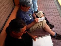 SKETCHCRAWL 50. Alaior-Menorca.25-07-2015.Pere y Bentue.5 (joseluisgildela) Tags: menorca dibujando islasbaleares alaior sketchcrawl50