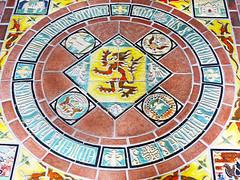 Narthax Floor Tiles (dwgibb) Tags: church abbey tile scotland michigan detroit stainedglass sanctuary vaultedceiling gothicarchitecture bloomfieldhills pewabicpottery kirkinthehills melroseabbey pewabictile narthax edwinsgeorge