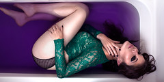 Amanda (itslindsay) Tags: color green colors beautiful canon dark studio bath colorful purple emotion 7 style 7d bathtub
