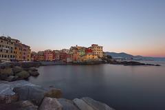 Boccadasse (Christian Ferrari) Tags: light sunset sea sky colors seascape seasilk