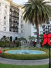 San Francisco. Roof garden.  Fairmont Hotel. Best wishes for the Holidays to Everyone! (Traveling with Simone) Tags: hotel fairmont rood garden fountain ribbons balconies outdoor sanfrancisco california palm palmtree palmier fontaine