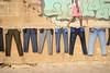 Varanasi, India (pirateofcake) Tags: india indian varanasi ganges laundry pants walk steps river travel street