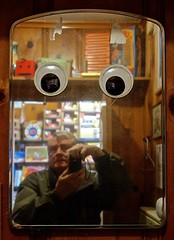 What the Mirror Sees (ricko) Tags: selfportrait mirror eyes reflection moonmarblecompany bonnersprings kansas camera 348366 2016