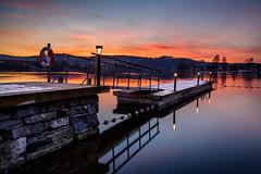 Winter Dock (Heli Hansen) Tags: skien norge norway winter longexposure reflections sunset dock river