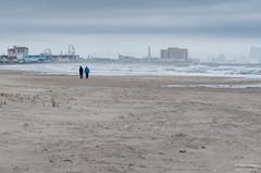 Atlantic City skyline seen from the beach at Ocean City (kucheryavchik) Tags: america atlantic capemay east eastcoast nj newjersey usa coast ocean roadtrip roadtrip2016 oceancity unitedstates us