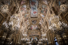 All that glitters (McQuaide Photography) Tags: paris france french républiquefrançaise iledefrance europe sony a7rii ilce7rm2 alpha mirrorless 1635mm sonyzeiss zeiss variotessar fullframe mcquaidephotography adobe photoshop lightroom handheld light availablelight city capitalcity urban indoor inside interior architecture building wideangle wideanglelens shape form pov angle art artwork painted ornate detailed details palaisgarnier operahouse parisopera charlesgarnier placedelopéra 9tharrondissement famous landmark tourism attraction old oldbuilding opulent luxury luxurious neobaroque beauxarts ceiling history historic culture arts performingarts 19thcentury chandelier fresco grandfoyer foyer