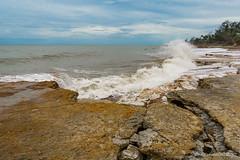 Nightcliff surf (NettyA) Tags: 2016 australia darwin nt nightcliff northernterritory clouds coastal rocks storm water wetseason surf waves boardriders beach stormy erosion