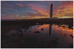 Barns Ness Lighthouse at Sunset-4 (Gordon_Farquhar) Tags: dunbar west barns beach lothian ness lighthouse torness power station scotland scottish east coast