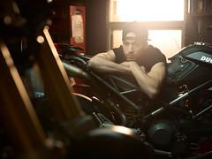 Anton Martynov Photography (Sneaky Russian) Tags: portrait anton martynov photographer photography motorcycle bike ducati mechanic nyc newyork strobe studio photoshoot nycphotographer antonmartynov profoto elinchrome nikon
