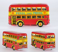 ZZ Bus (adrianz toyz) Tags: tinplate pennytoy zz zimmermann zirndorf hongkong doubledecker bus persil nivea
