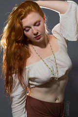 Caitlyn (austinspace) Tags: woman portrait spokane washington model alienbees redhead ginger blouse necklace earrings