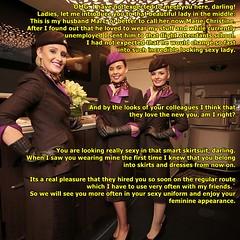 flight attendant (Marie-Christine.TV) Tags: story caption feminine transvestite lady mariechristine flight attendant stewardess sexy skirtsuit uniform