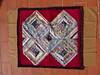 17 Scrap strips diamond rug 2 (mariwarner) Tags: patchwork rug rugs scrappystrips randomcolours diamondpattern