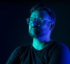 Fernando, 2017 (debdamone) Tags: portrait gels photography people blue