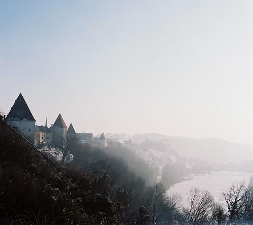 Burg zu Burghausen und Wöhrsee