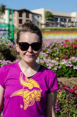 Posing at the Carlsbad Flower Fields (m01229) Tags: california portrait us unitedstates sandiego carlsbad vikings flowerfield minnesotavikings d5100 nikon18300mm may2015