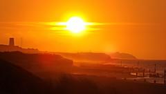 Sunset (lcfcian1) Tags: sunset sea sky orange landscape countryside nice pretty dusk norfolk orangesky beachsunset eccles northnorfolk ecclesonsea norfolksunset