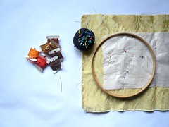 Embroidered Pillow Tutorial (Lizette Greco + GRECOLABORATIVO) Tags: birthday old embroidery craft pillow gift workshop stitches instructions oldage tutorial bettedavis hiptster oldageaintnoplaceforsissies embroideredpillo