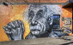 Einstein (J-C-M) Tags: street urban streetart art wall painting graffiti artwork paint artist grafitti albert einstein vincent australia melbourne wallart victoria spray aerosol moloney