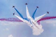 boom (gopper) Tags: redarrows raf airshow thereds hawk iconic british amazing fantastic red arrows airdisplay airfestival westonsupermare best white blue airstream modern break bac tmk1 old g gforce
