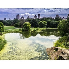 Turtle Pond in Central Park from... (thatbenhaller) Tags: nyc centralpark manhattan belvedere turtlepond belvederecastle uploaded:by=flickstagram nycprimeshot reflectionshotz instagram:photo=781214230571320650571993008