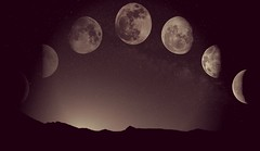 The Moon Phase (updownmo) Tags: moon themoonphase blackandwhite sky stars photo image picture moonpicture nightphotograph