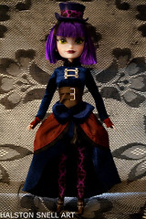 Gracey (Cerulean Fish) Tags: world park black dark toy toys doll dolls dress lace gothic goth victorian disney haunted resort dresses mansion gracey attractionistasgracey2015 attractionistas